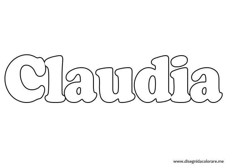 nomi-claudia-da-colorare
