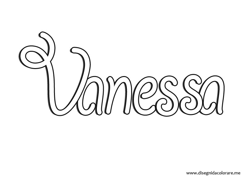 vanessa coloring pages - photo#8