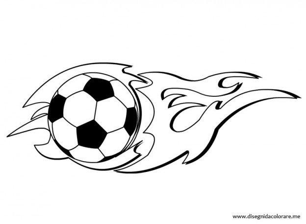 Pallone Calcio Con Fiamma Pallone Da Calcio In Fuoco Illustrazione