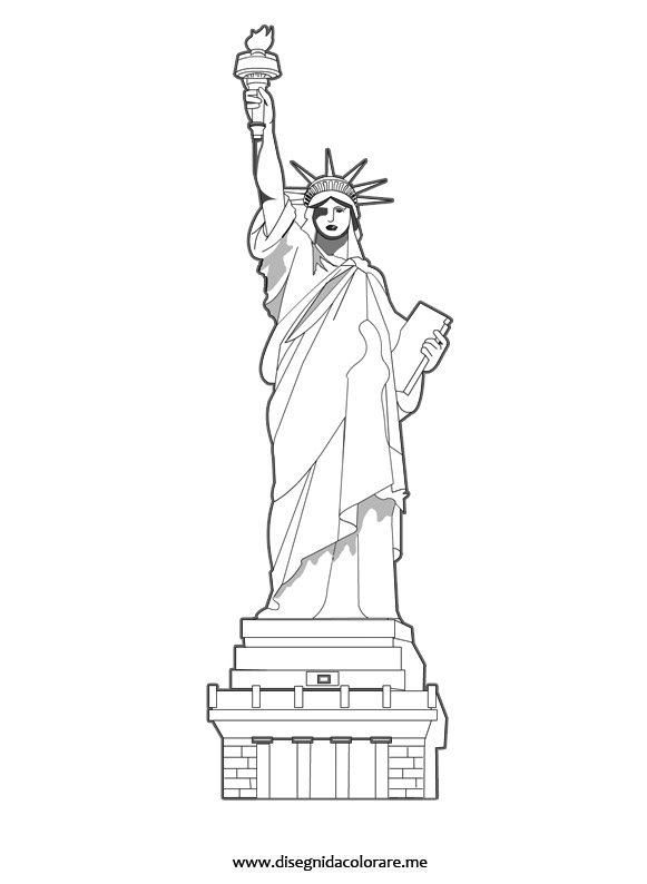 Statua della libert new york disegni da colorare for Disegni new york