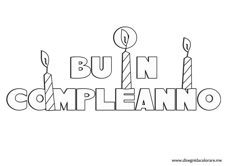 Populaire Buon Compleanno: scritta da stampare | Disegni da colorare OJ35
