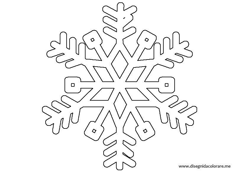 Conosciuto Fiocco di neve | Disegni da colorare TQ46