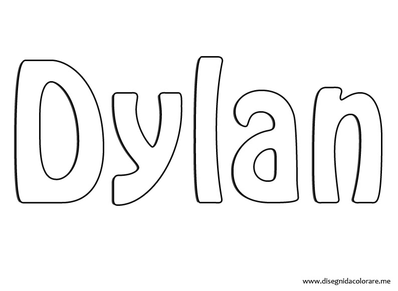 dylan coloring pages - photo#2