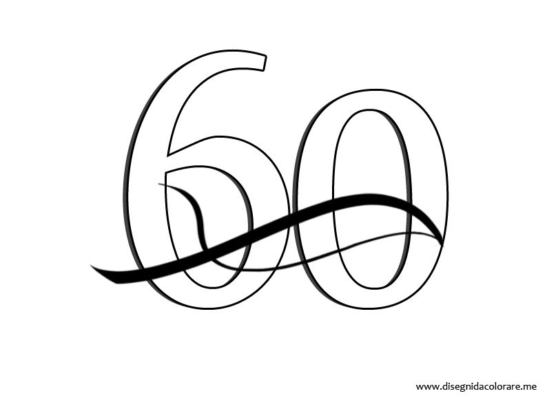 Numero 60 Disegni Da Colorare