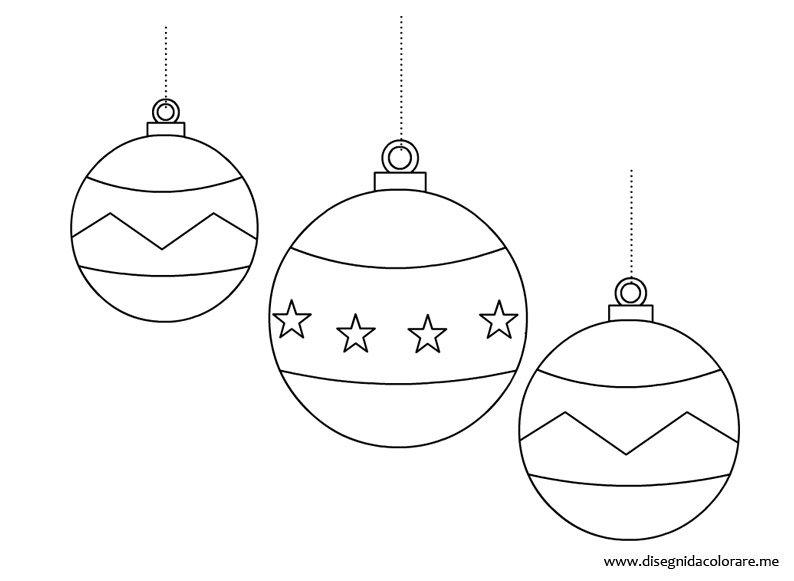 Palline Albero Di Natale Disegni Da Colorare