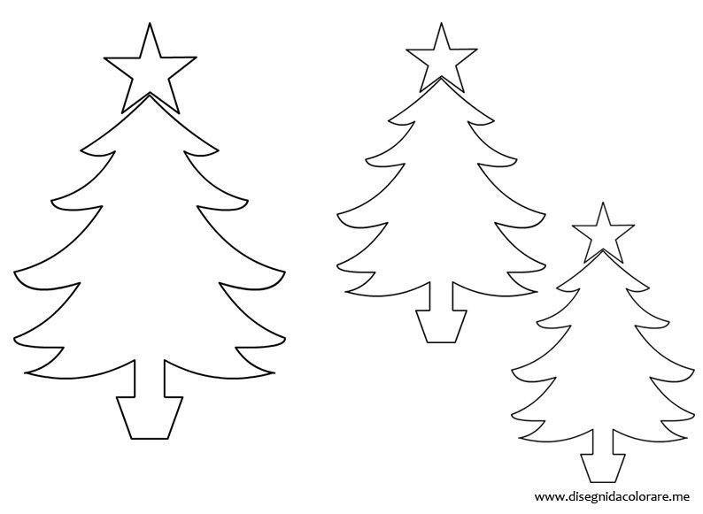 Sagome Alberi Di Natale Disegni Da Colorare