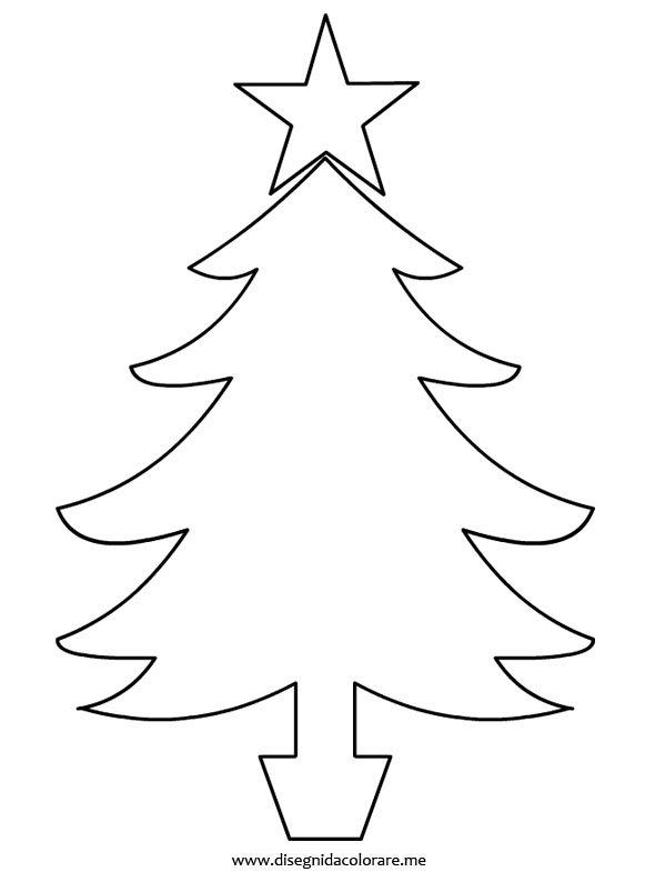 Amato Sagoma albero di Natale | Disegni da colorare QT48