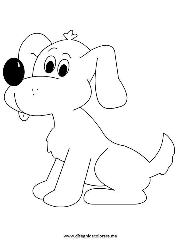 Disegno cane disegni da colorare for Disegno gatto facile