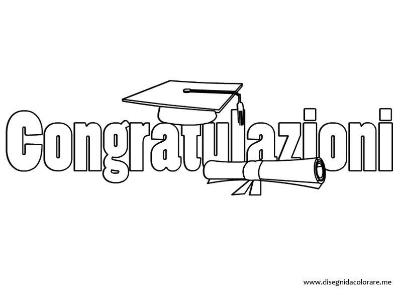 Connu Laurea – Congratulazioni | Disegni da colorare ZT76