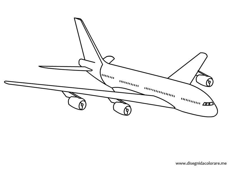 disegni da colorare e stampare di aerei