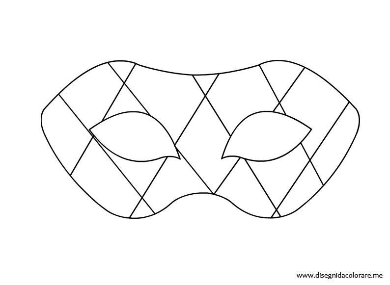 Sagoma Maschera Di Arlecchino Disegni Da Colorare