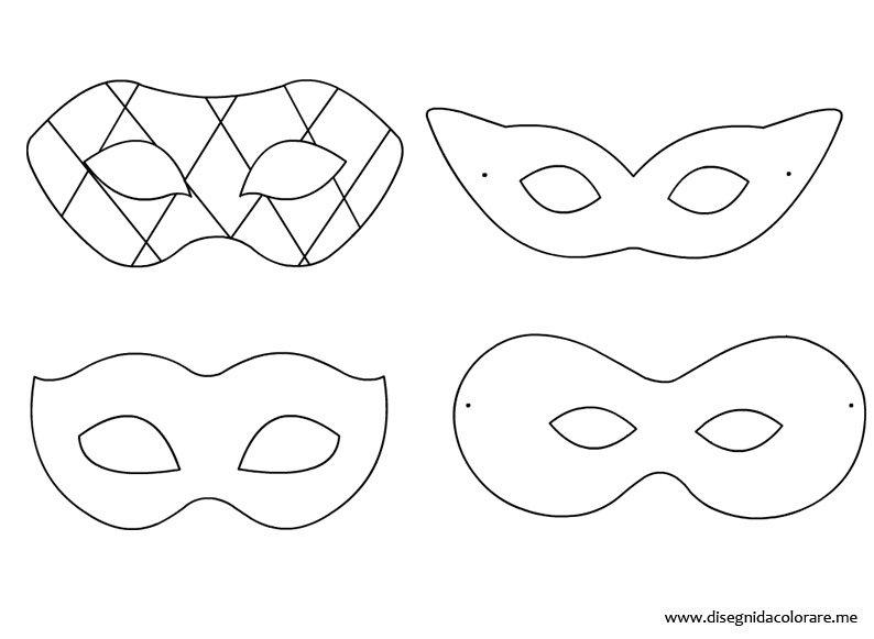 Maschere di carnevale da colorare disegni da colorare for Immagini maschere carnevale da colorare
