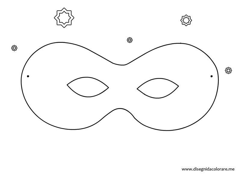 mascherina di carnevale da ritagliare disegni da colorare