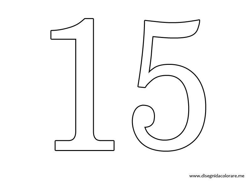 Numero 13 Para Colorear: Dibujos Del Numero 15 Para Colorear