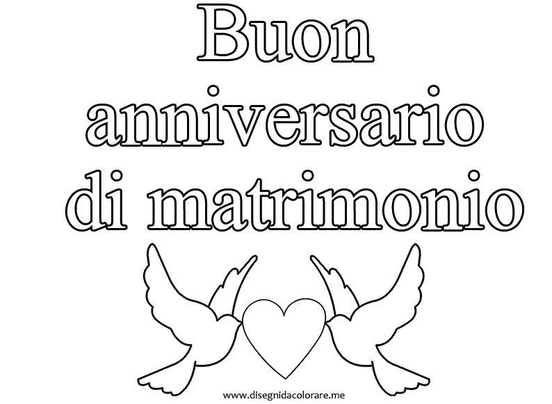 Super Buon Anniversario di Matrimonio | Disegni da colorare GN85