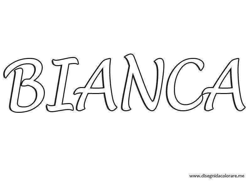 Nome bianca disegni da colorare for Disegni da colorare maggie e bianca