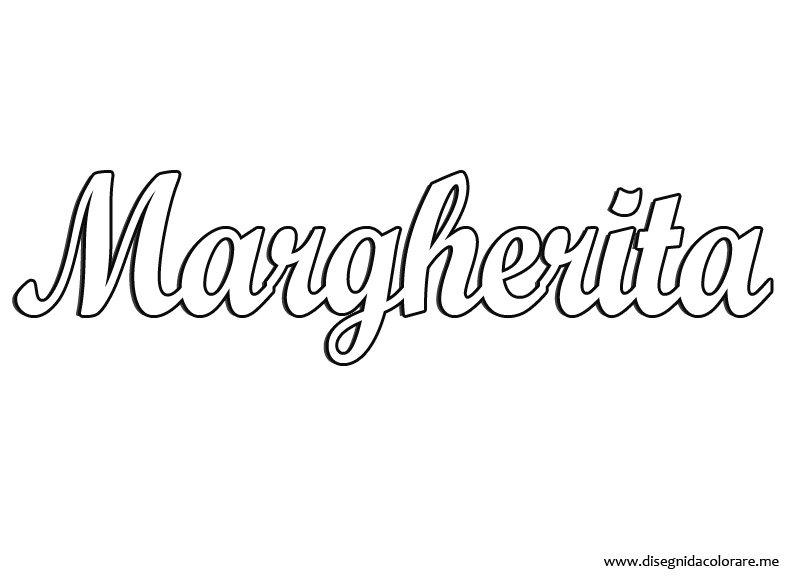 Nome Margherita Disegni Da Colorare