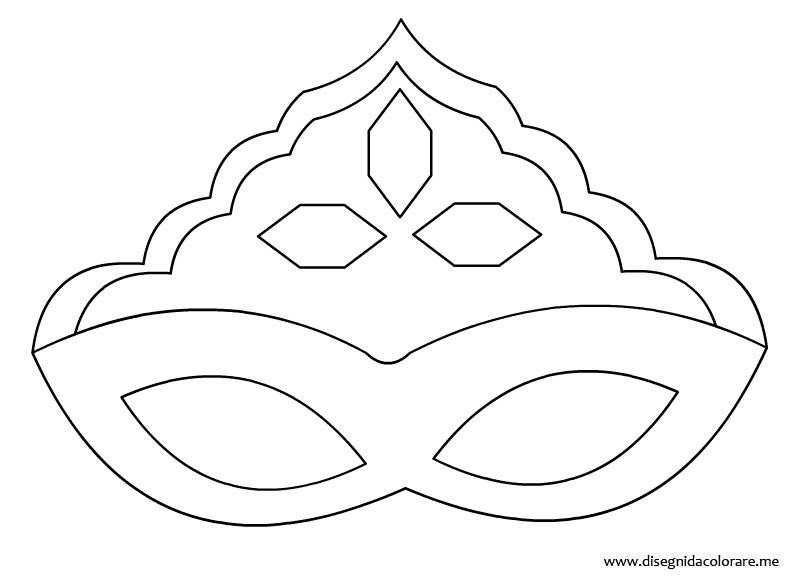 Maschera principessa da colorare disegni da colorare for Maschera di flash da colorare