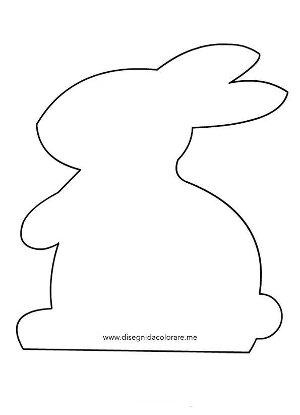 Pasqua sagoma coniglio disegni da colorare for Case facili da costruire