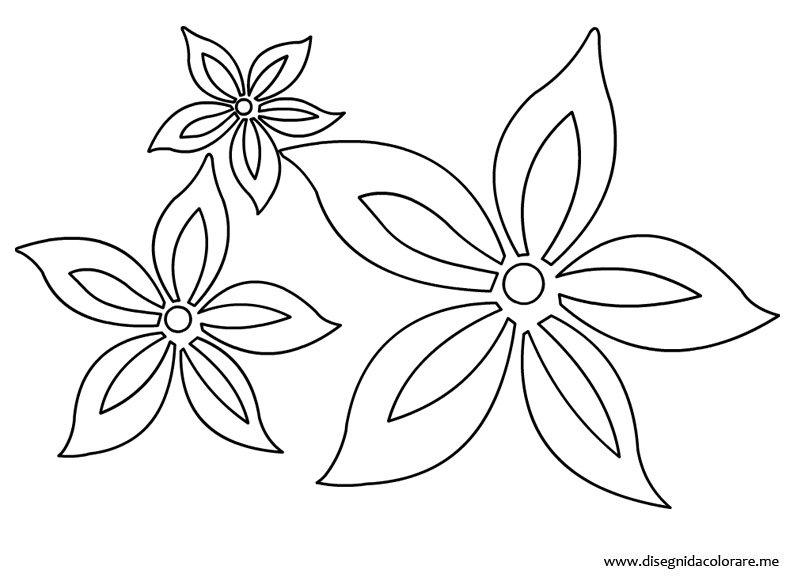Fiori stilizzati da colorare disegni da colorare for Fiori da colorare e stampare