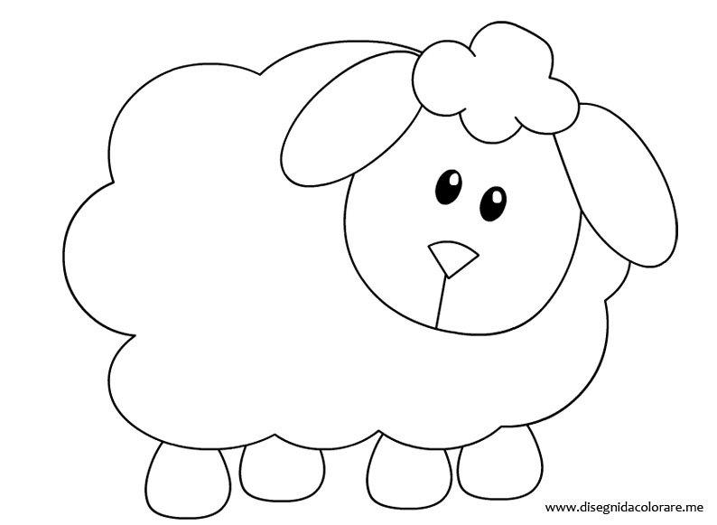 Disegno pecorella disegni da colorare for Coniglio disegno per bambini
