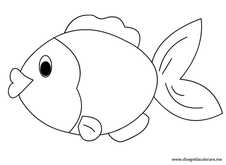 Pesce da colorare disegni da colorare for Immagini di pesci da disegnare