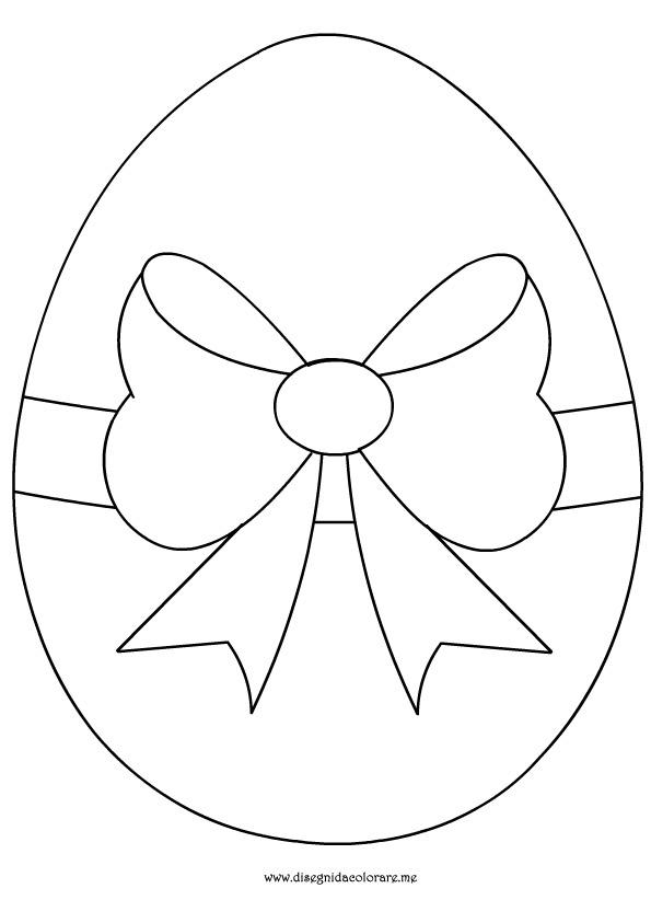 Top Uovo di pasqua con fiocco | Disegni da colorare NB85