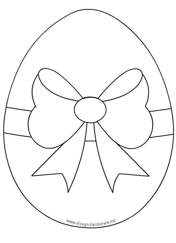 uovo di pasqua con fiocco disegni da colorare