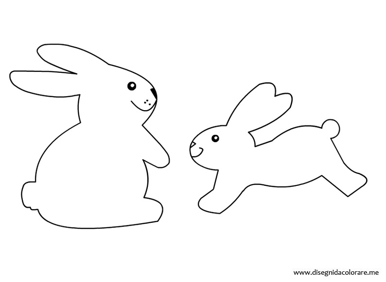 Coniglietti Di Pasqua Disegni Da Colorare