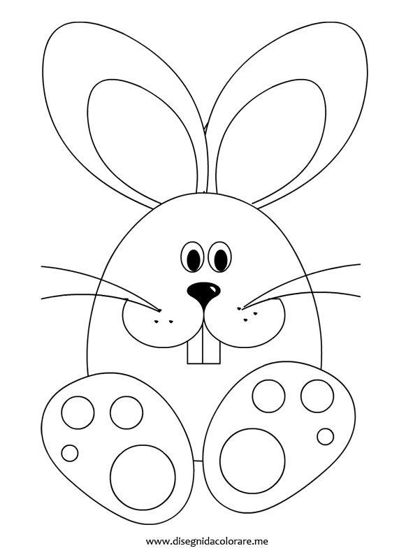 Coniglio pasqua2 for Coniglio disegno per bambini