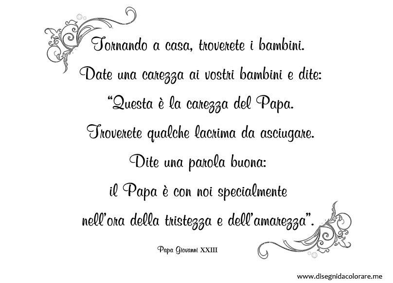 Bien connu Frase di Papa Giovanni XXIII da stampare | Disegni da colorare BC36
