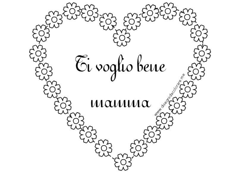 Auguri Matrimonio Spagnolo : Ti voglio bene mamma disegni da colorare