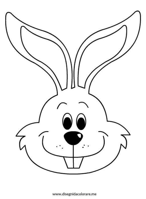 Coniglio da colorare disegni da colorare for Coniglio disegno per bambini