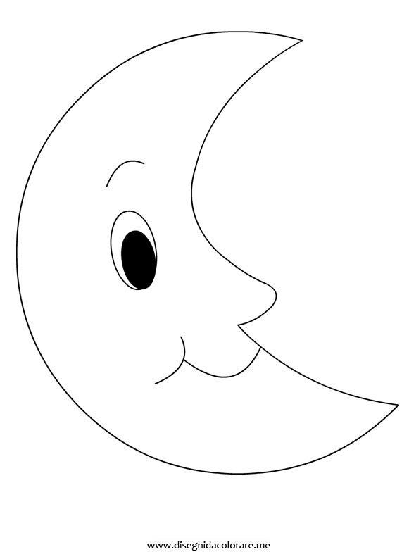 Luna da colorare disegni da colorare for Sole disegno da colorare