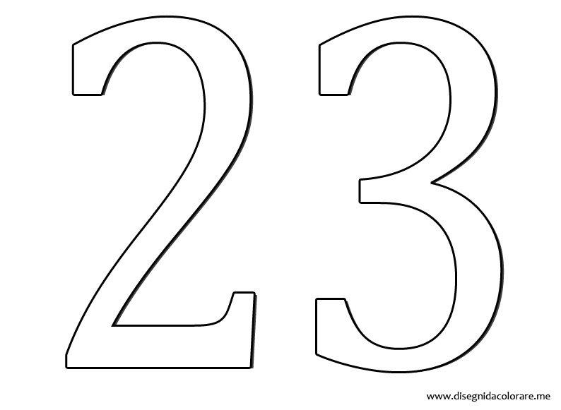 Favorito Numero 23   Disegni da colorare YO39