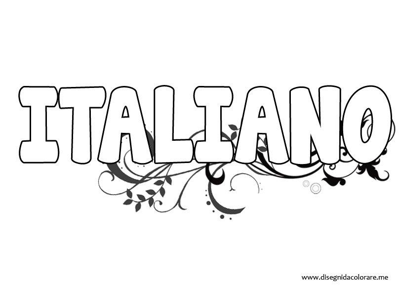 abbastanza Copertina italiano | Disegni da colorare JO68
