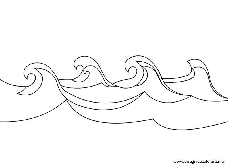 Onde del mare disegni da colorare for Disegni di mare da colorare