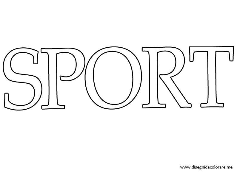 Scritta sport disegni da colorare for Disegni sport da colorare