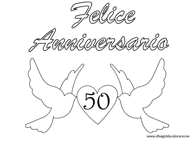 Bien-aimé Anniversario di Matrimonio – 50 anni | Disegni da colorare CT93