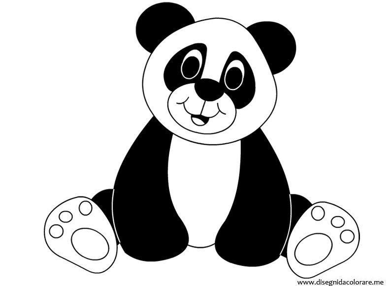 Disegno panda disegni da colorare for Disegno orso per bambini