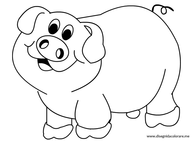 Maialino da colorare disegni da colorare for Maialino disegno per bambini