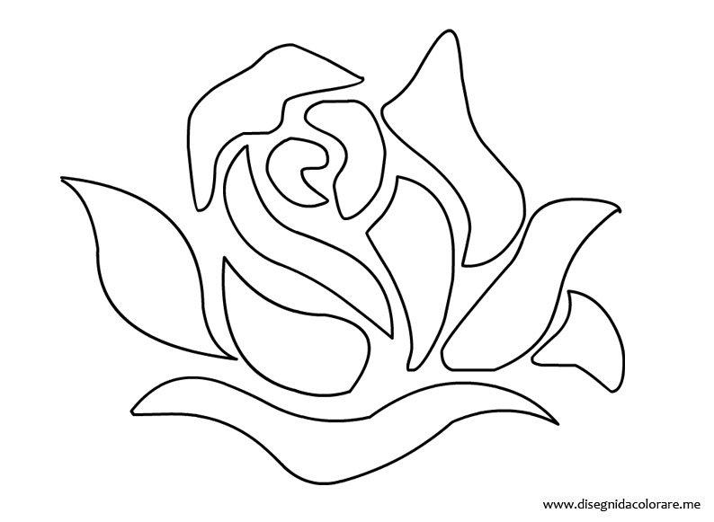 Rose Da Disegnare Facili: Immagini Stencil Fiori Da Stampare