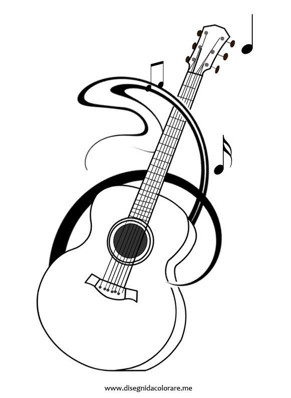 Chitarra Classica Disegno Da Colorare