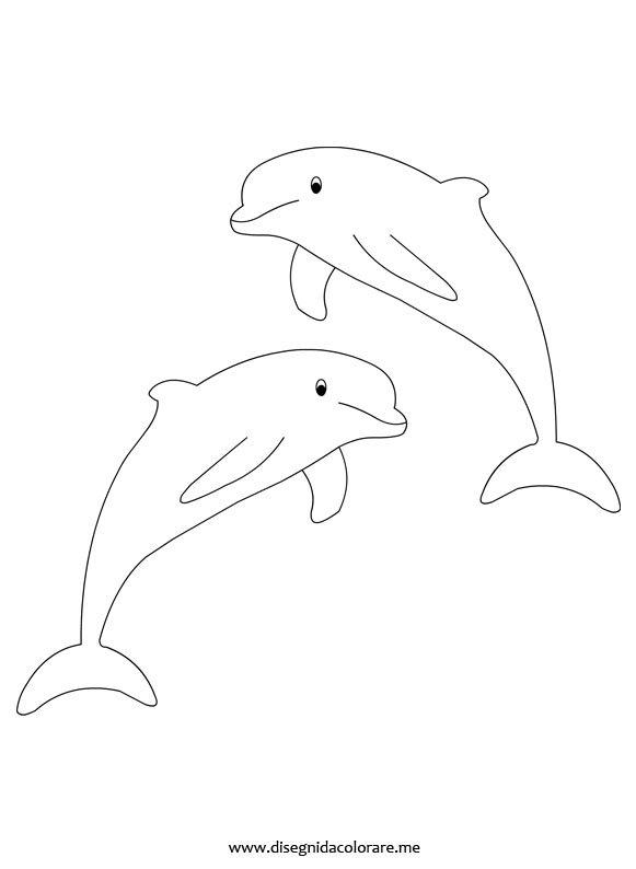 Delfini disegni da colorare for Delfino disegno da colorare