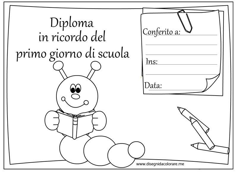 diploma-ricordo-primo-giorno-scuola-bruco
