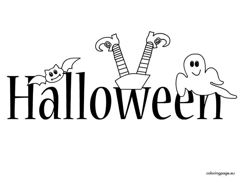 Scritta halloween disegni da colorare - Halloween immagini da colorare ...