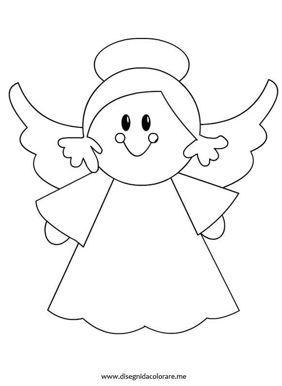 Angelo disegno da colorare disegni da colorare for Disegni da colorare angeli