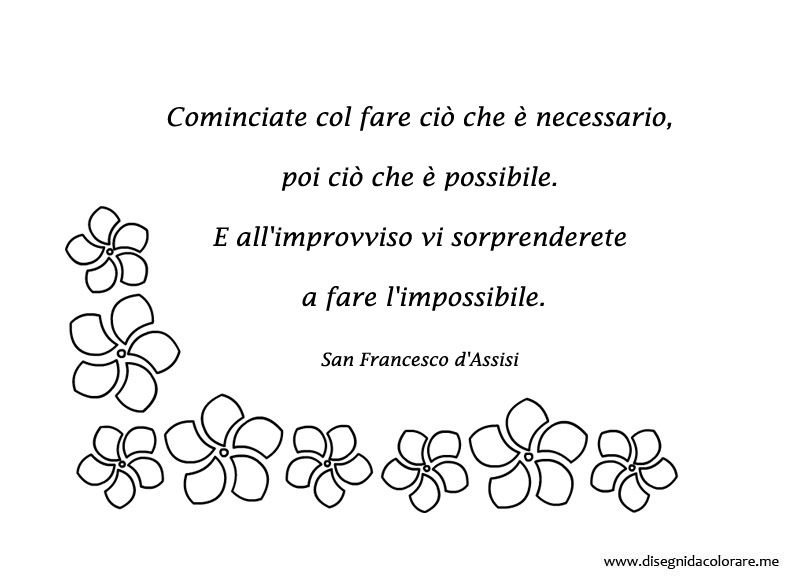 Preferenza Frase di San Francesco d'Assisi | Disegni da colorare WP17