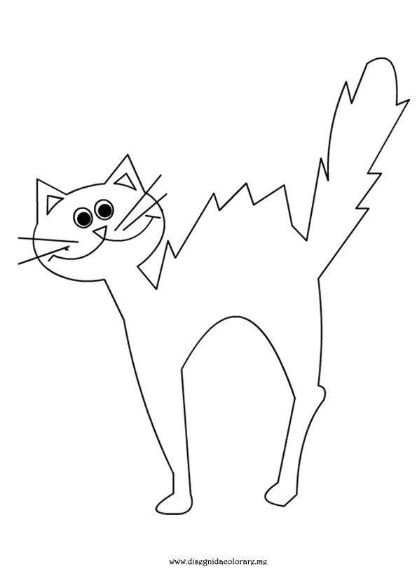Gatto halloween disegni da colorare for Cane disegno da colorare