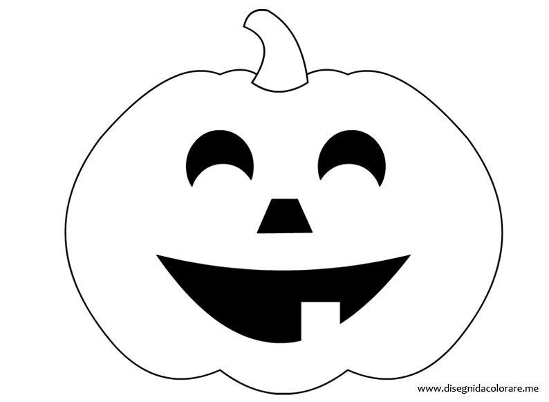 Zucca Halloween Da Colorare: Zucche Halloween Disegni Da Colorare